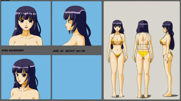 Risa Waverider: Model Sheet by wbd