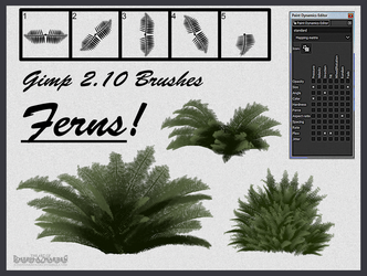 Free Custom Made Fern Brushes by vcubestudios