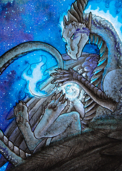 ACEO/ATC: Icy Spell by Samantha-dragon