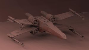X-wing by Faydarentar