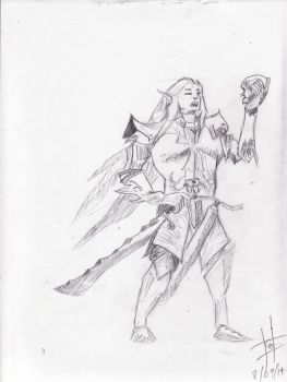 Sketch of an Elf by calejocarecangrejo