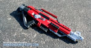 Mass Effect themed NErf Stampede v3 by JohnsonArmsProps