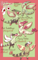 Flygon Breeding Varieties! by MrMollusk