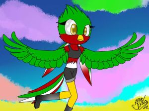 Hana the Quetzal by UkyoLovest