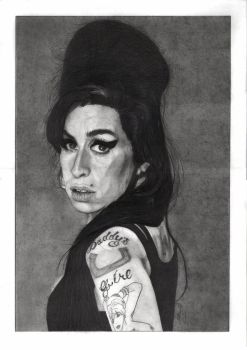 Amy Winehouse (Pencil) by mchurchill1982