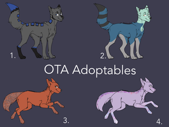 OTA Canine Adoptables by CarelessCuriosity