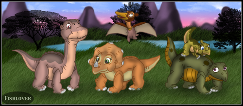 Littlefoot and Friends by Fishlover