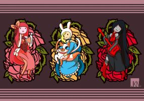 Adventure Time:Fancy Ladies by VeloursRose