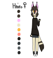 Hairo - reference sheet by kari-v