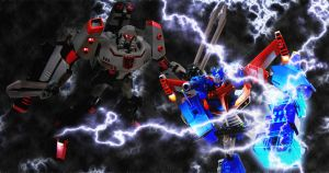 Animated Optimus Prime vs Megatron by SUnicron