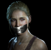 Elena Tape Gagged (uncharted 4) by TheBlenderTaper