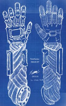 Cyborg arm Blueprint ver. by TombstoneCC
