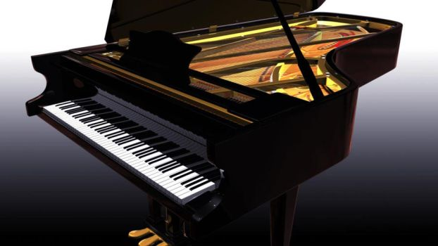 Enric Mellier's Piano - 3d modelling by Jantoni