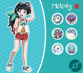 Disney Pokemon trainer : Melody by Pavlover