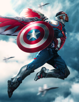 Sam Wilson Captain America by ehnony
