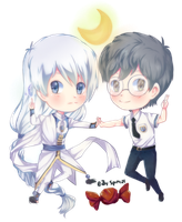 Chibi Yue and Yukito by Spiny21Works