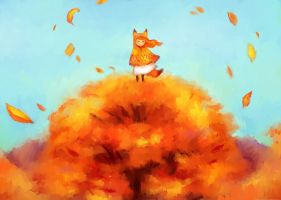 Friday's doodle. Theme: autumn by Ksanya