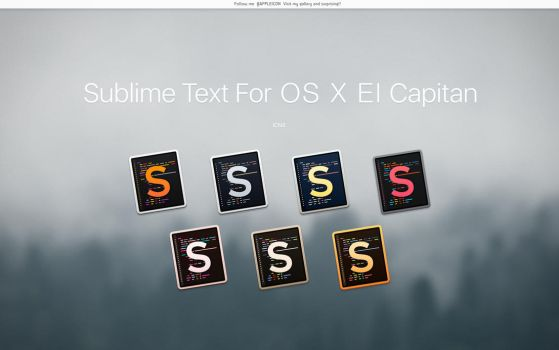 Sublime Text For OS X El Capitan by MaxColins