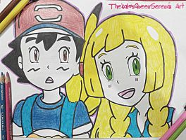 Ash and Lillie~1 by TheKalosQueenSerena