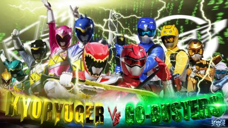 Kyoryuger Vs Go-Busters by hoanngoc09