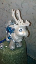 The Pale Winter Reindeer 1 by SoldierofTwilight