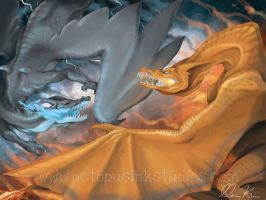 Battle of the Charizards by DragonSpirit469