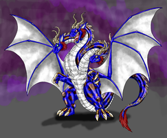 Commission-Tri-Dragon by Scatha-the-Worm