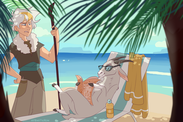 a beach day ruined by owlspiice