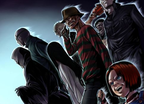 Don't fuck with the Horror Crew by LoveCrossover