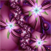 Think Pink Flowers by Mookiezoolook