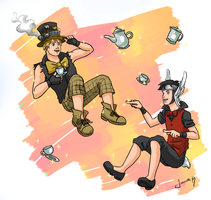 Avengers Fairytales - Billy and Teddy by Xinjay