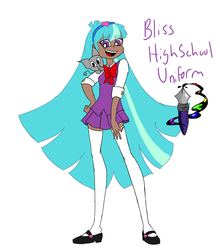 Bliss Megaville High School Uniform flat color by CDromster