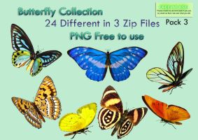 Butterfly Collection Stock Pack 3 by Roy3D