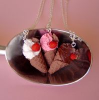 Waffle Cone Necklaces by janeybaby