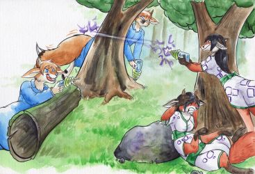 Forest Fight by Cervelet