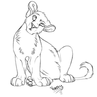 Lion cub lineart by Danni-Minoptra
