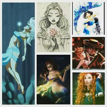 Favorite Disney Princesses Collage by autumnrose83