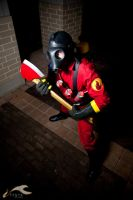 EXPCon 2011 - Team Fortress 2 | Red Pyro by elysiagriffin
