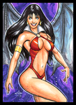VAMPIRELLA BAT WINGS PERSONAL SKETCH CARD by AHochrein2010
