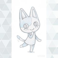 Purrl from Animal Crossing by ErbyDraws