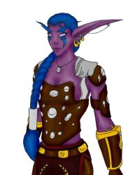 Night elf with colour by Faharis