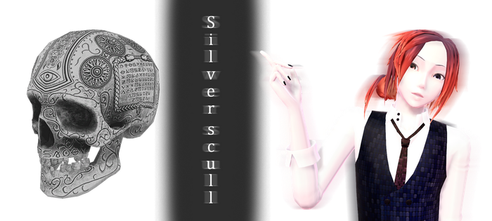 [MMD] Silver scull DL by JoanAgnes