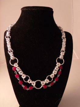Byzantine necklace in Red by CynthiaDesgagne