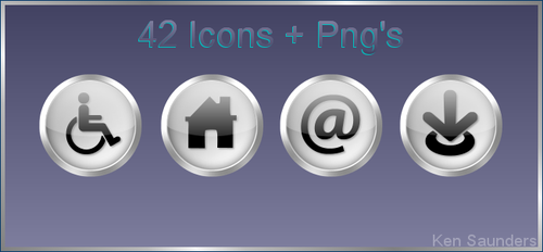 Web Icons 1 by KenSaunders