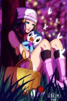 Dawn and Piplup