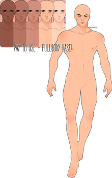 P2U - MALE FULLBODY BASE (paypal accepted) by Yllande