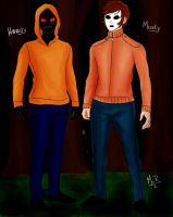 Hoody and Masky by Ms--R