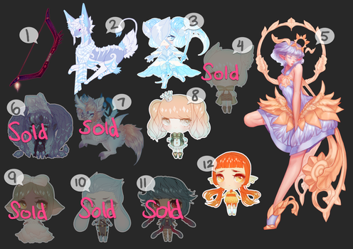 [OPEN - PWYW] Unsold Adopts by Valkymie