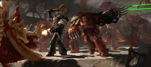 Tyranids Vs Blood Angels by ZacharyMadere