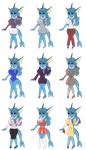 Vanessa Vaporeon's Outfits by redryan2009